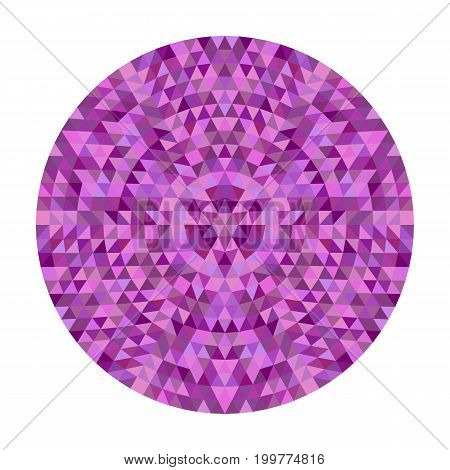 Round abstract geometric triangle kaleidoscopic mandala design - symmetrical vector pattern graphic from colored triangles