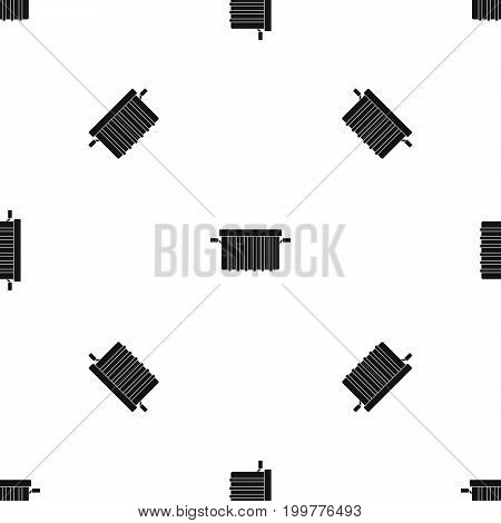 Garbage tank pattern repeat seamless in black color for any design. Vector geometric illustration