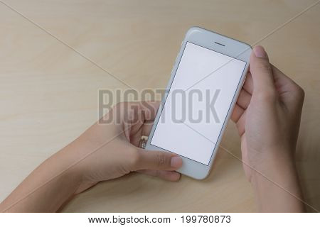 Cell phone using concept with blank screen.