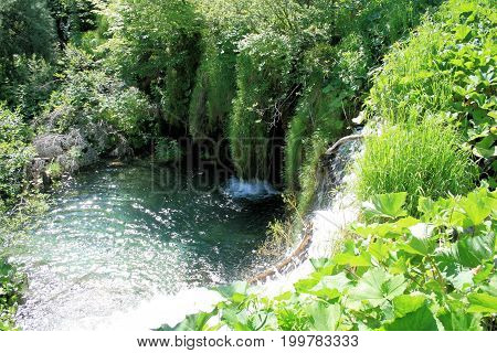 pool in the national park Plitvice, Croatia