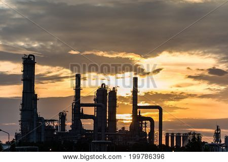 oil refiery plant and chemical plant in Thailand oil tank oil storage and pipeline