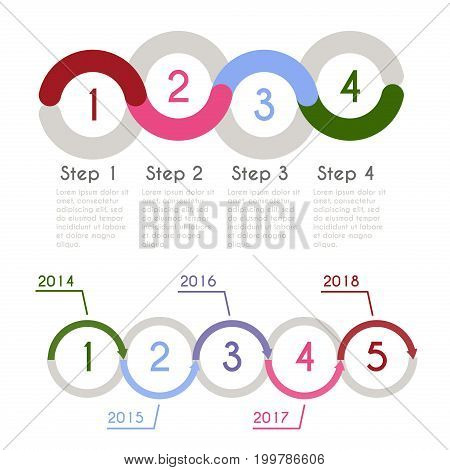 Progress chart statistic concept. Business flow process diagram. Infographic template for presentation. Timeline statistical chart.