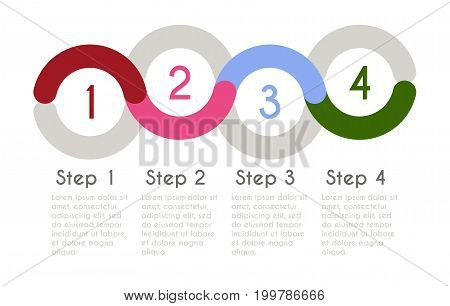 Statistic concept. Business flow process diagram. Infographic template for presentation. Timeline statistical chart.