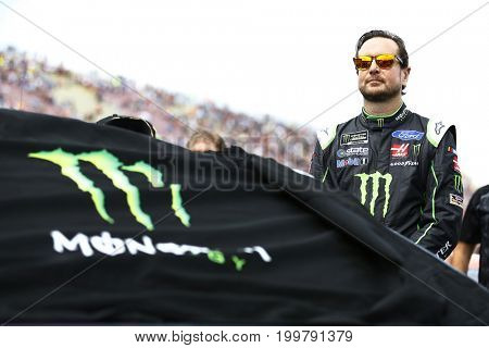 August 13, 2017 - Brooklyn, Michigan, USA: Kurt Busch (41) hangs out on the grid prior to the start of the Pure Michigan 400 at Michigan International Speedway in Brooklyn, Michigan.