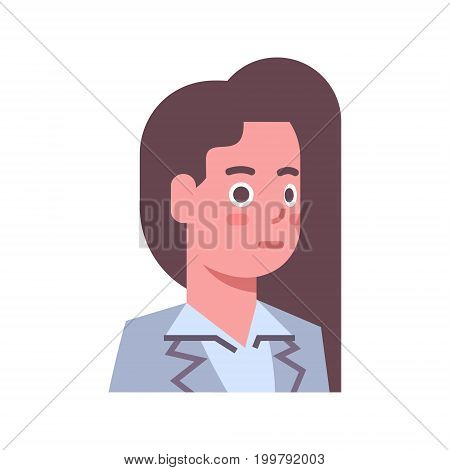 Female Shocked Emotion Icon Isolated Avatar Woman Facial Expression Concept Face Vector Illustration