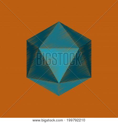 flat shading style icon virus anatomical microscopy