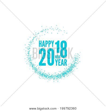 2018 Happy new year background. for greeting card, flyer, invitation, poster, brochure, banner calendar Christmas Meeting events