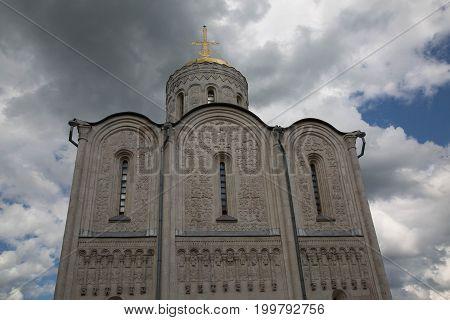 Landmark Vladimir Russia Saint Demetrius cathedral June 2017