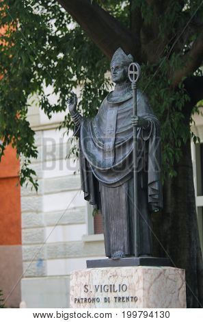 Trento - Statue Of San Vigilio