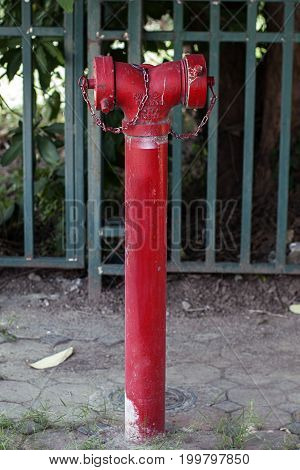 fire hydrant red emergency fireman equipment protection