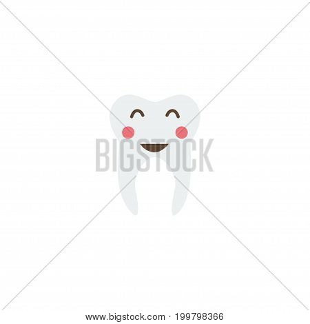 Flat Icon Healthy Element. Vector Illustration Of Flat Icon Enamel Isolated On Clean Background