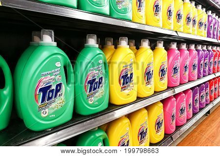 Kuala Lumpur, Malaysia, August 15, 2017: Top Is The Leading Japanese Brand Liquid Detergent From Lio