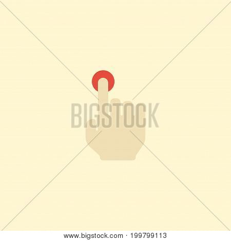 Flat Icon Press Element. Vector Illustration Of Flat Icon Hold Isolated On Clean Background