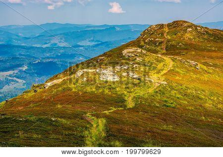 Path Through The Top Of Mountain Ridge