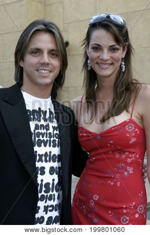 Enrique Sapene and Carolina Bacardi at the 8th Los Angeles Latino International Film Festival held at the Egyptian Theater in Hollywood, USA on July 16, 2004.