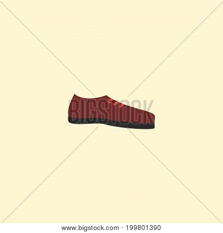 Flat Icon Shoe Element. Vector Illustration Of Flat Icon Man Footwear Isolated On Clean Background