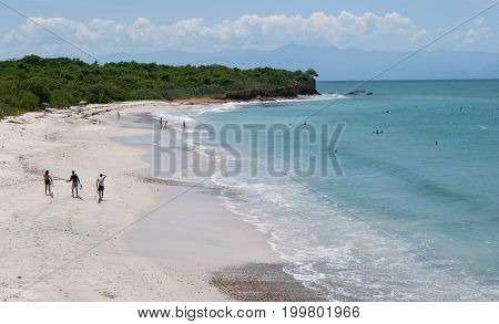 La lancha beach near Punta Mita north of Puerto Vallarta. Good waves for surfing.