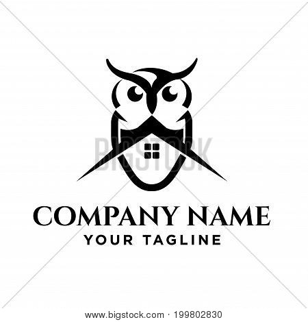 owl simple logo template design. eps8, eps10