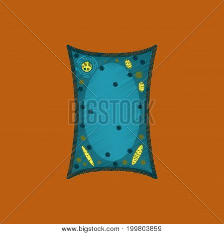 flat shading style icon plant cell anatomical