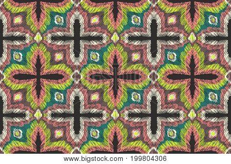 Pattern Embroidery Oranment Aztec Fashion Ethnic Fabric Design 3
