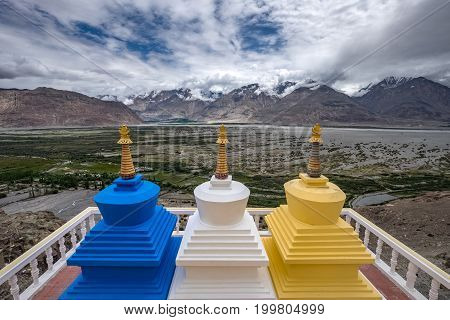 Diskit Monastery or Deskit Gompa is the oldest and largest Buddhist monastery in the Nubra Valley of Ladakh, northern India.