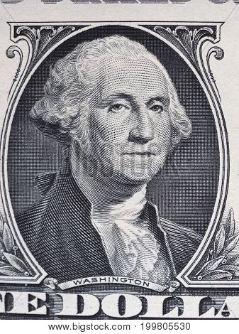 Washington On 1 Dollar Note, United States