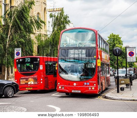 Red Bus In London (hdr)