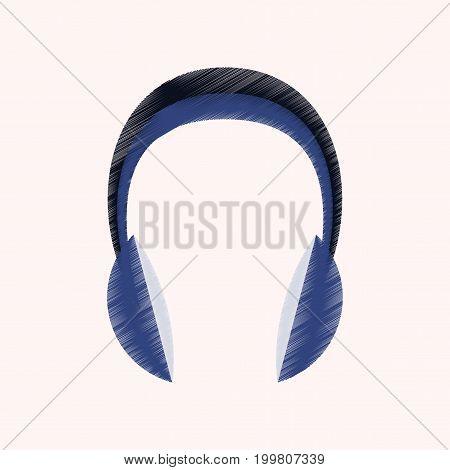 flat shading style icon headphones stereo electronics