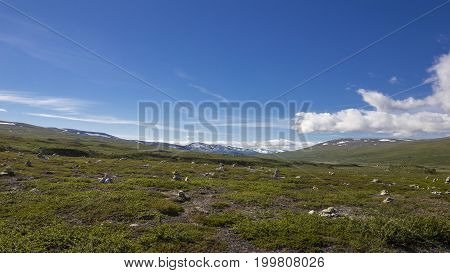 Beautiful landscape at the polar circle in Norway.