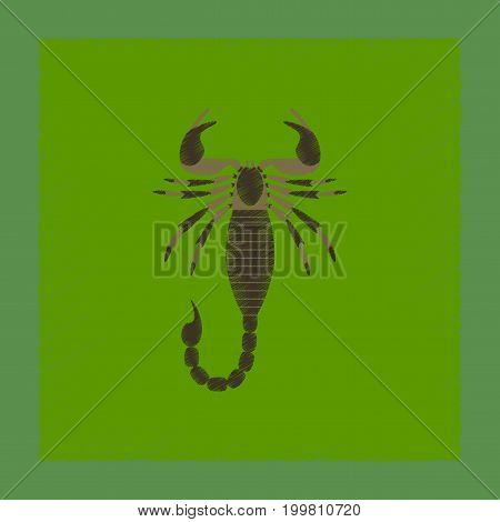 flat shading style illustration of animal Scorpio