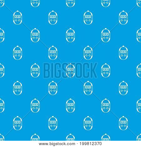 Stopwatch pattern repeat seamless in blue color for any design. Vector geometric illustration