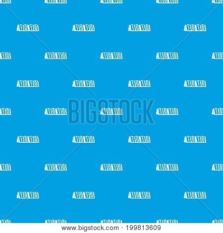 Tennis scoreboard pattern repeat seamless in blue color for any design. Vector geometric illustration