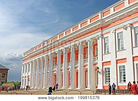 TULCHYN, UKRAINE - JUNE 05, 2017: Potocki Palace. OperaFestTulchyn international opera open air festival was held in Tulchyn on the territory of Potocki Palace, Vinnytsia region, Ukraine