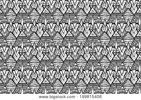 Fabric pattern. Tribal ornament. Ethnic style. Embroidery effect illustration. Mexican fabric. Brazilian textile. Vector pattern for fashion design interior or printed products.