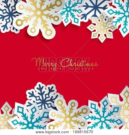 Christmas And New Year Gold Paper Decoration Art