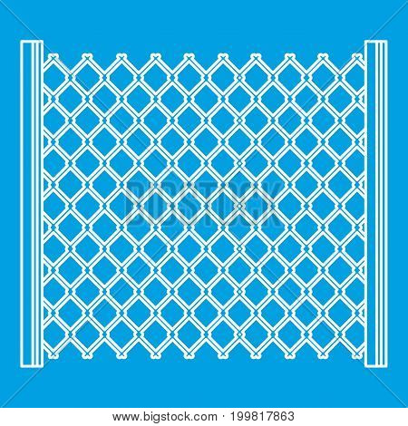 Perforated gate icon blue outline style isolated vector illustration. Thin line sign