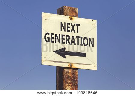 Next Generation, Word And Arrow Signpost 2