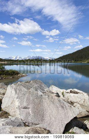 Summer view of Upper Dewey Lake 945 meters above sea level (Skagway Alaska).