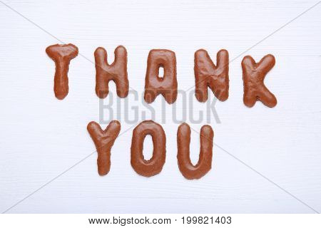 Thank You Written By Chocolate Cookies Alphabet