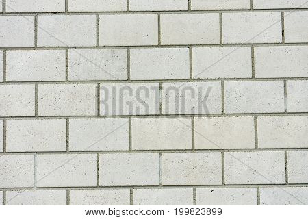 white grey brick wall concrete texture with clear lines