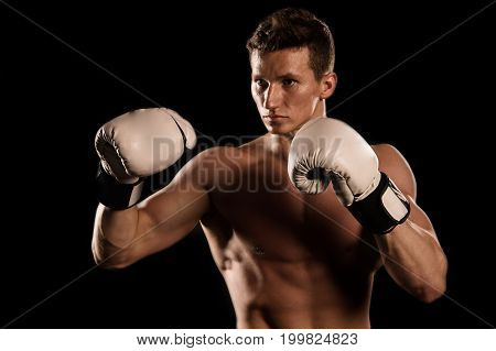 Boxer With Bare Chest.
