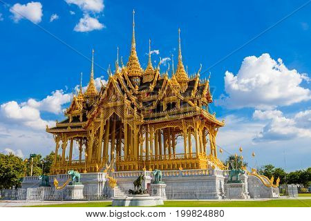 BANGKOK THAILAND - August 13: The Ananta Samakhom Throne Hall Thailand on August 13 2017. Built in Italian Renaissance and Neo Classic styleAnanta Samakhom Throne Hall is famous landmark in Bangkok