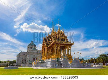 BANGKOK THAILAND - August 13: The Ananta Samakhom Throne Hall Thailand on August 13 2017. Built in Italian Renaissance and Neo Classic styleAnanta Samakhom Throne Hall is famous landmark in Bangkok