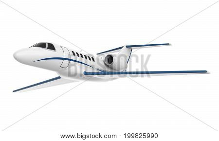 Private Jet Airplane isolated on white background. 3D render