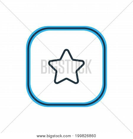 Beautiful Application Element Also Can Be Used As Rating Element.  Vector Illustration Of Star Outline.