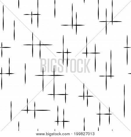 Striped black seamless pattern. Fashion graphic background design. Modern stylish abstract texture. Monochrome template for prints textiles wrapping wallpaper etc. Vector illustration