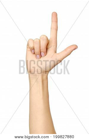 Female Hand Hand Pointing Up
