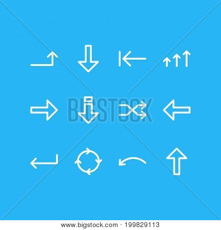 Editable Pack Of Tab, Down, Download And Other Elements.  Vector Illustration Of 12 Sign Icons.