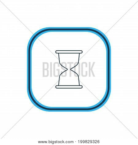 Beautiful Network Element Also Can Be Used As Sandglass Element.  Vector Illustration Of Hourglass Outline.