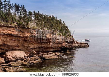 Bonaventure Island cove Gaspe Peninsula Quebec Canada
